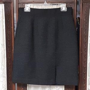 Black Gray Wool Blend Gap Dressy Skirt